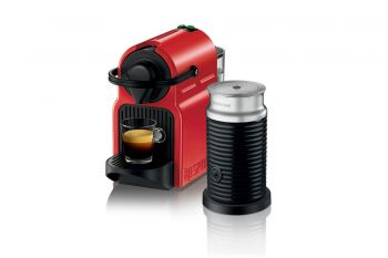 Pack Inissia Red and Aeroccino3 Black+6 Tazas Double Espresso