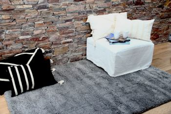 Alfombra Shaggy Element 200 x 290 Gris