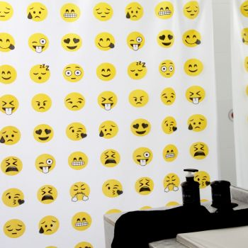 Cortina de baño Emoticones