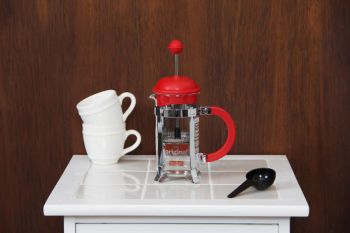 Cafetera French Press Rojo Bodum 3 Pc