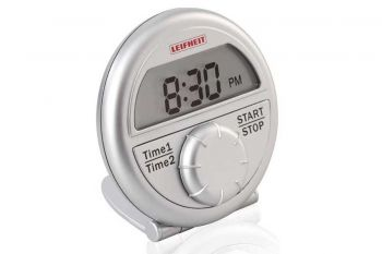 Timer digital Plateado